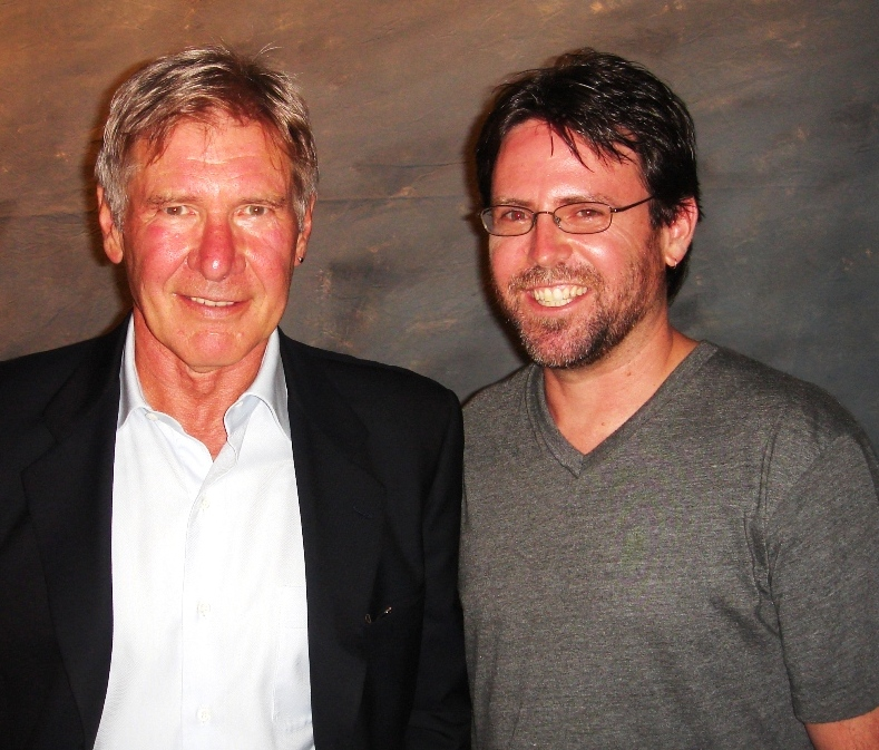 Dan and Harrison Ford, speakers at the 2011 EAA AirVenture in Oshkosh, Wisconsin.