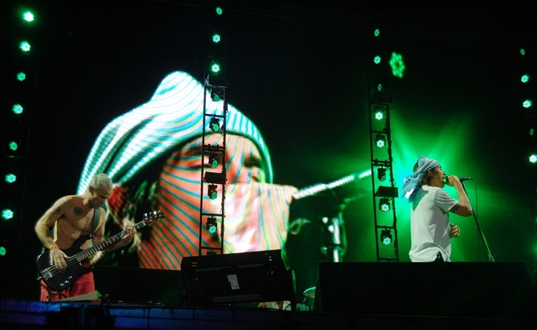 Red Hot Chili Peppers at Lollapalooza 		Argentina.