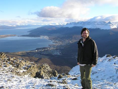 On location in Ushuaia, Tierra del Fuego, Argentina, for <i>Air & Space</i> Smithsonian.